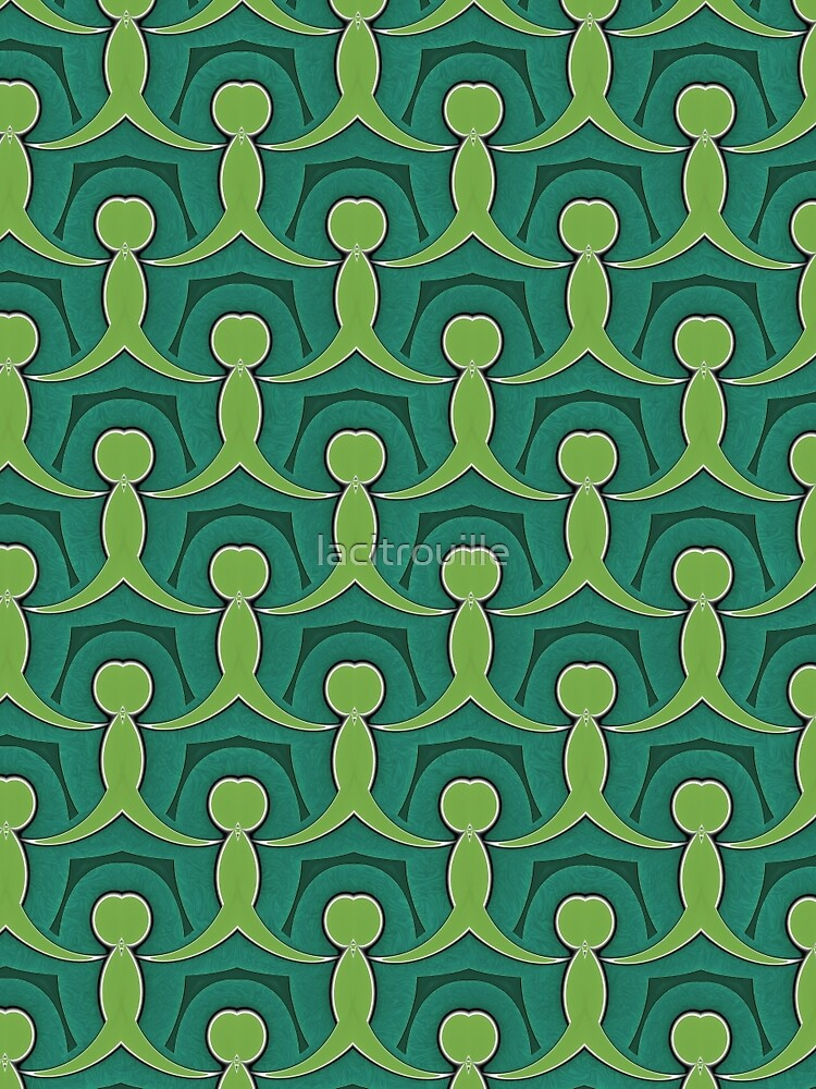 Green Village Pattern by lacitrouille