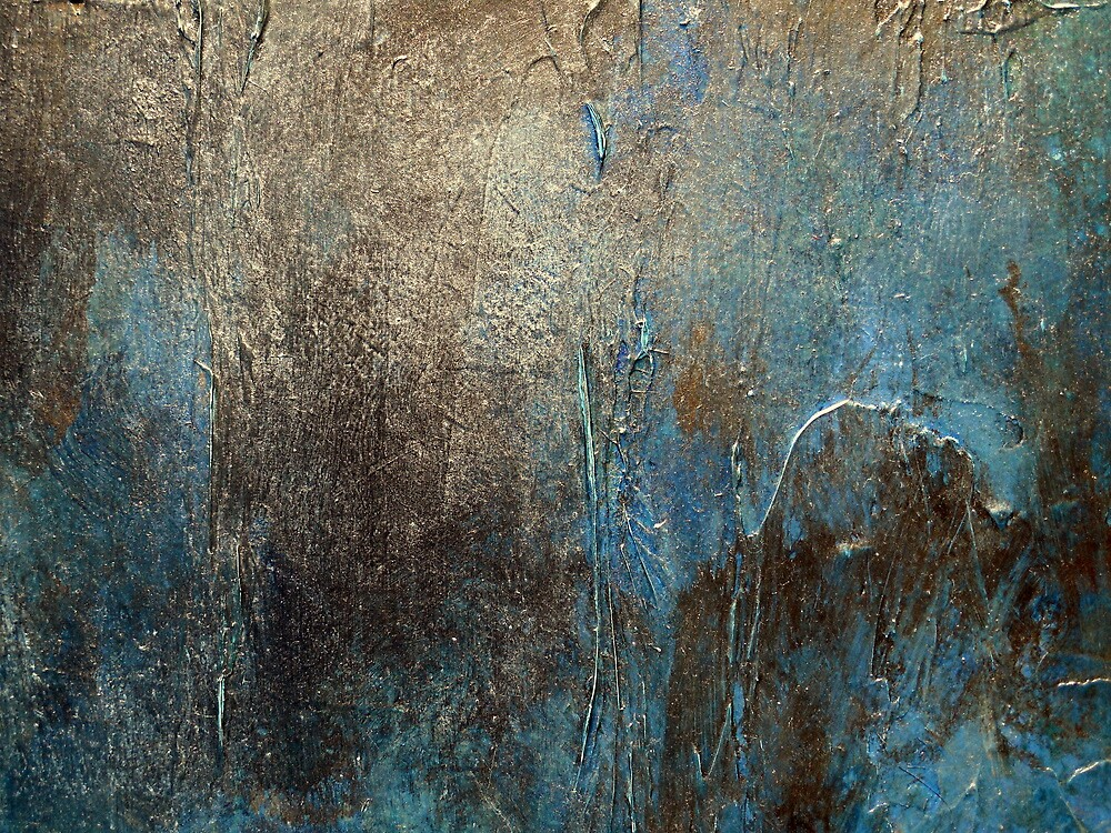 Abstract Coastal Painting-OXIDIZED-artist-holly-anderson by hollyanderson