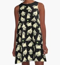 Playful Pugs A-Line Dress