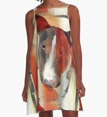 Bull Terrier - full frontal A-Line Dress