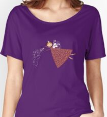 Whimsical Magical Snowflakes Fairy Women's Relaxed Fit T-Shirt