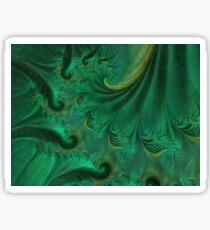 Flowing Green Drapery Sticker