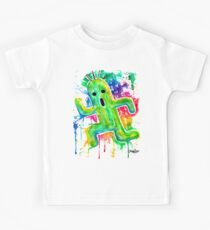 Cute Cactuar - Running Watercolor - Final fantasy - Jonny2may - Awesome!  Kids Clothes