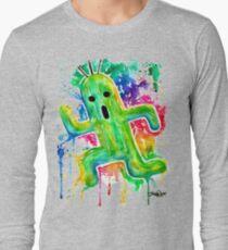 Cute Cactuar - Running Watercolor - Final fantasy - Jonny2may - Awesome!  Long Sleeve T-Shirt