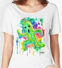 Cute Cactuar - Running Watercolor - Final fantasy - Jonny2may - Awesome!  Women's Relaxed Fit T-Shirt