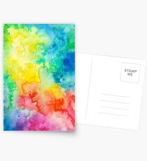 Awesome cute - Rainbow Watercolor - Tie Dye pride - T shirts + MORE! Greeting Card