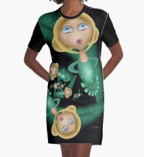 Inner Child - Nordic Spring Goddess Graphic T-Shirt Dress