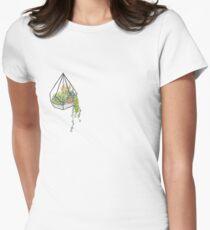 Hängendes Terrarium Tailliertes T-Shirt für Frauen