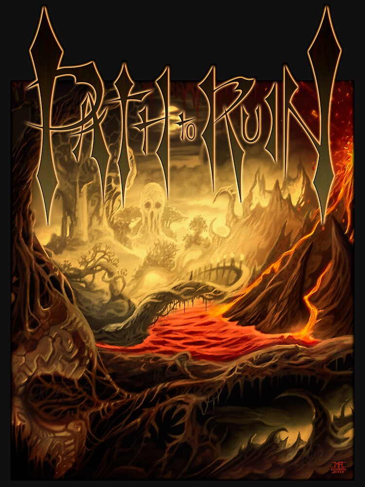Path To Ruin t-shirt with art by Mark Cooper by pathtoruin