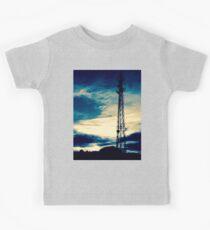 Blue Sunset Silhouette Kids Tee