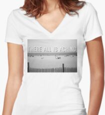"""""""There All Is Aching"""" Women's Fitted V-Neck T-Shirt"""