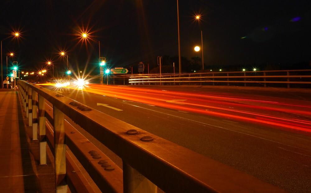 Night Russle Road Exit  by nixspix