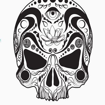 Horrific Finds Skull T-Shirt by HorrificFinds