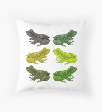 Frog Party Throw Pillow