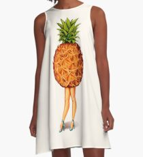 Fruit Stand - Pineapple Girl A-Line Dress
