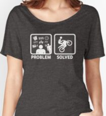 Problem Solved Motorbike T Shirt Relaxed Fit T-Shirt