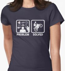 Problem Solved Motorbike T Shirt Women's Fitted T-Shirt