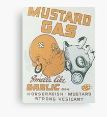 Vintage poster - Mustard Gas Canvas Print