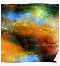 Fluid Acrylic Painting ABOVE THE CLOUDS Artist Holly Anderson Poster