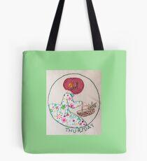Thursday's Market Day Bonnet Lady Tote Bag