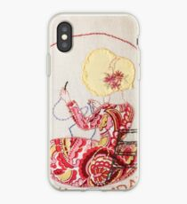 Wednesday Sewing and Mending Bonnet Lady iPhone Case