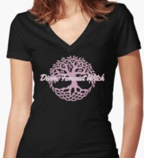 Divine Feminist Witch Women's Fitted V-Neck T-Shirt