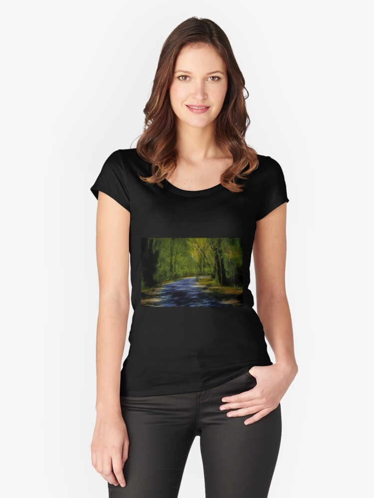 Forest Matrix Women's Fitted Scoop T-Shirt Front