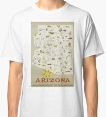 Arizona Vaction State Of The Nation Vintage Travel Poster Classic T-Shirt