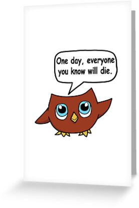 Nihilistic owl greeting cards by tymakesart redbubble nihilistic owl by tymakesart m4hsunfo