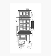 Monochrome Building Photographic Print