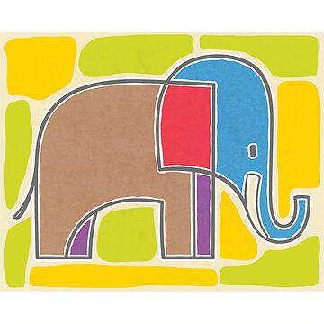 Artsy Elephant by ZapBrand