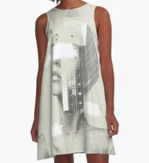 UP TOWN FACET II A-Line Dress