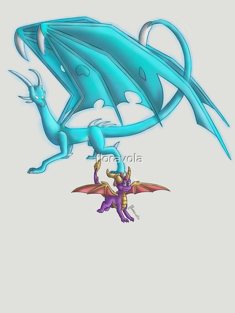 Spyro VS Elemental dragon ~ by floravola
