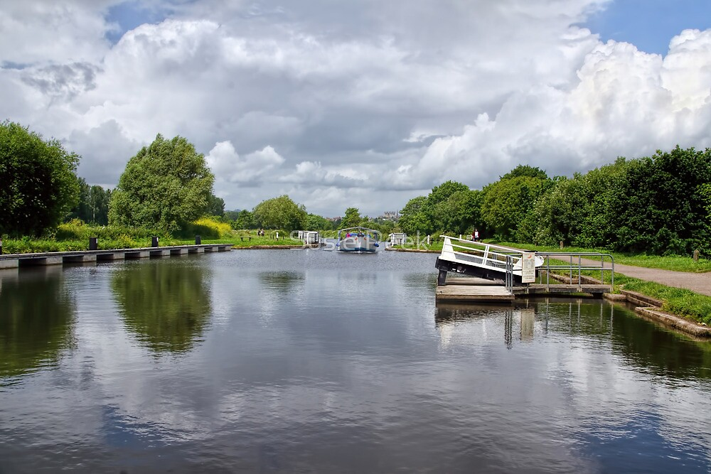 Double Locks Along Exeter Ship Canal 2 by Susie Peek