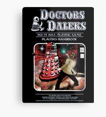 Doctors Daleks Metal Print