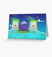 Atomic Frog Thing Greeting Card