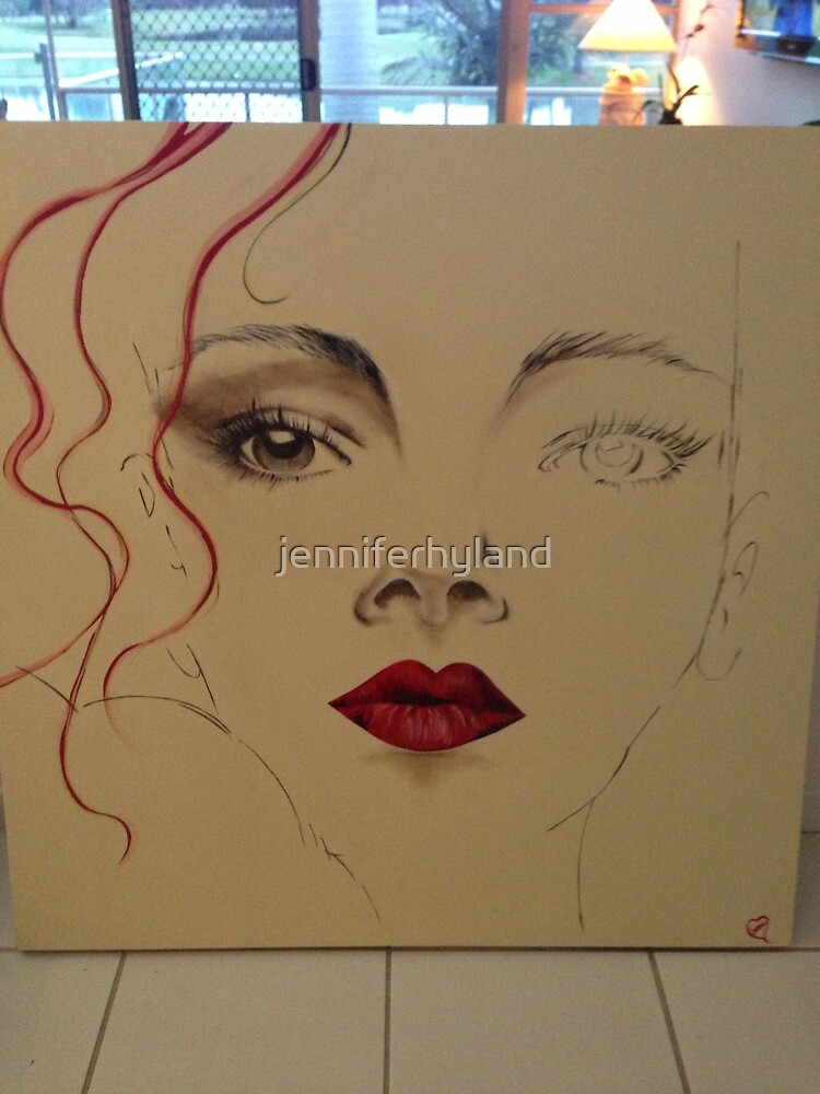 Half face by jenniferhyland