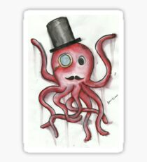 Sir Octopus in Watercolor Sticker