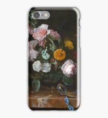 Willem Van Aelst - Vanitas Flower Still Life . Still life with flowers: still life with flowers, flowers, blossom, nature, botanical, floral flora, wonderful flower, plants, garden, vase iPhone Case/Skin