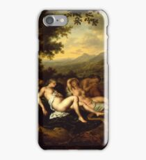 Willem Van Mieris - Cimon And Iphigeniapanel 1698 . Woman portrait: sensual woman, girly art, female style, pretty women, femine, beautiful dress, cute, creativity, love, sexy lady, erotic pose iPhone Case/Skin
