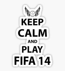 Keep Calm And Play Fifa 2014 Sticker
