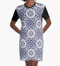 Bright abstract seamless lace pattern romantic print background Graphic T-Shirt Dress