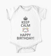 Keep Calm And Happy Birthday! One Piece - Short Sleeve