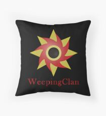 Weeping Emblem P/B - Black Throw Pillow