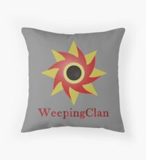 Weeping Emblem P/B - Grey Throw Pillow