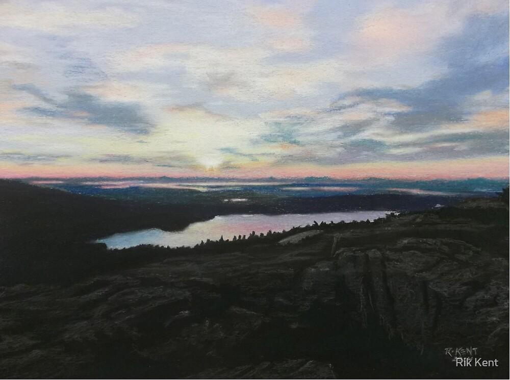 """Sunset On Cadillac Mountain"" by Rik Kent"