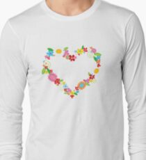 Whimsical Spring Flowers Power Garden Long Sleeve T-Shirt