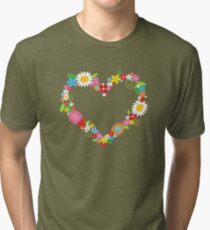 Whimsical Spring Flowers Power Garden Tri-blend T-Shirt