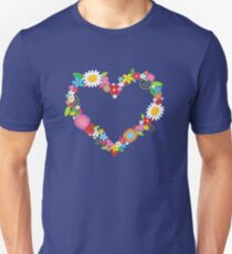 Whimsical Spring Flowers Power Garden Unisex T-Shirt