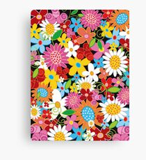 Whimsical Spring Flowers Power Garden Canvas Print